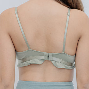 Ruffled Chic Bralette in Sage