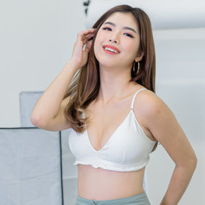 Ruffled Chic Bralette in White