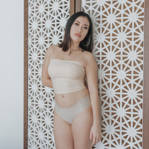 Seamless Mid-Rise Butthugger in Matte Nude