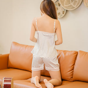 Dotty Polka! Slumberwear Set in White