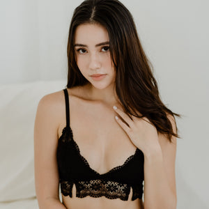 Enchanting Lacey Bralette V2.0 in Black