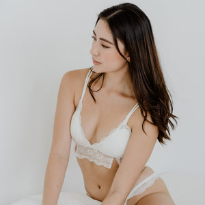 Enchanting Lacey Bralette V2.0 in White