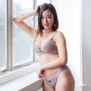 Effortlessly Fresh! Soft Lightly-Lined Wireless Bra in Muted Grey