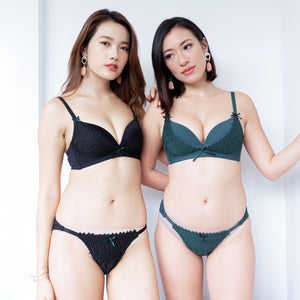 Effortlessly Fresh! Soft Lightly-Lined Wireless Bra in Emerald Green