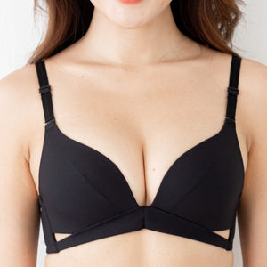 Spring Vibes! Soft Lightly-Lined Wireless Bra in Black