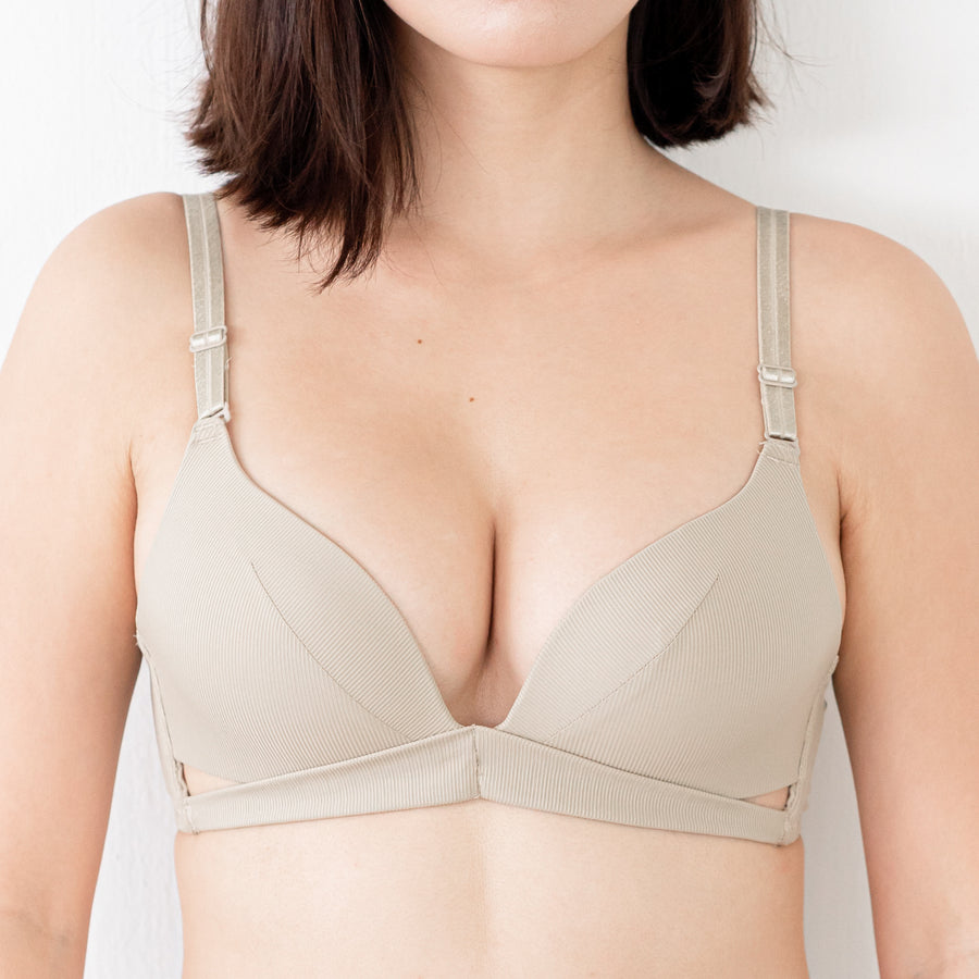 Spring Vibes! Soft Lightly-Lined Wireless Bra in Pebble