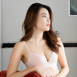 *RESTOCKED* The Seamless Thinnest Lightly-Lined Wireless T-Shirt Bra in Nude