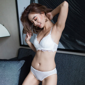 Essential Wireless T-Shirt Bra in White (Size XL Only)