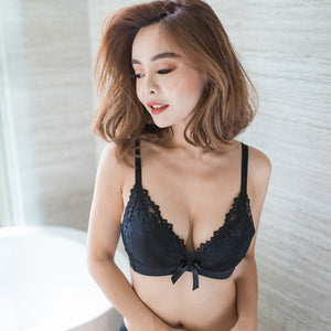 Ultimate Comfort Wireless Push Up T-Shirt Bra in Black