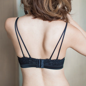 Comfort Satin Wireless Push Up T-Shirt Bra in Black