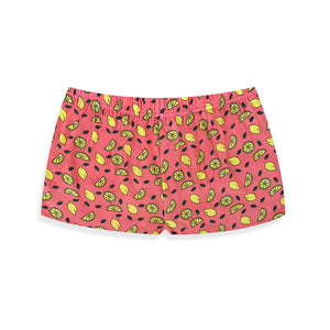 Coral Lemonade Lounge Shorts - I'M IN  -  i m i n x x . c o m - 4