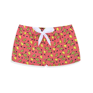Coral Lemonade Lounge Shorts - I'M IN  -  i m i n x x . c o m - 2