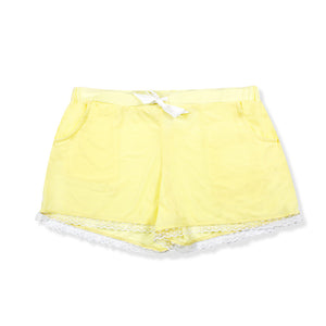 Lemon Yellow Nylon Shorts - I'M IN  -  i m i n x x . c o m