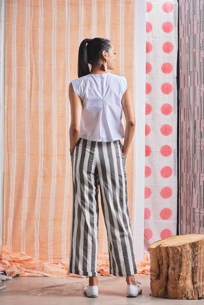 YAATRA - WIDE LEG COTTON TROUSERS