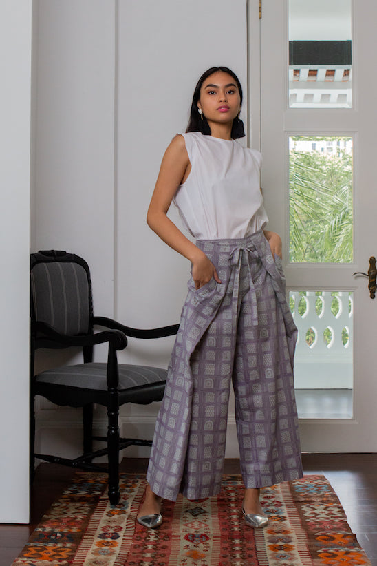 ZEENA GREY TROUSERS