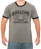 SignatureTshirts Men's This is What an Awesome Dad Looks Like Ringer Father's Day T-Shirt
