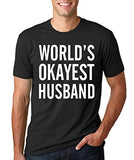 SignatureTshirts Men's World's Okayest Husband Funny Valentine's Day t-Shirt Cute Couple Husband Wife Gift