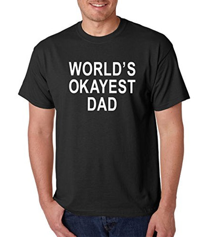 SignatureTshirts Men's Worlds Okayest Dad Crew Neck Funny T-Shirt