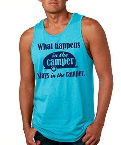 SignatureTshirts Men's What Happens in The Camper Stays in The Camper Tank Top