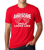 SignatureTshirts Men's T-Shirt Awesome Uncle Funny Novelty Graphic Tee
