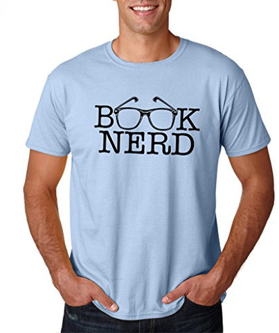 SignatureTshirts Men's Tee, Book Nerd - Nerdy Apparel - 100% Cotton