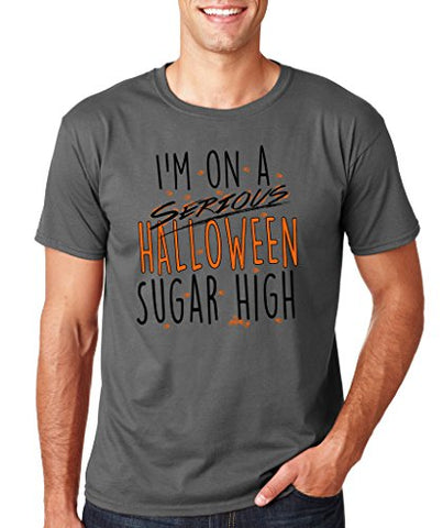 SignatureTshirts Men's Halloween Tee, I'm On A Serious Halloween Sugar High, Funny Comic Awesome Apparel
