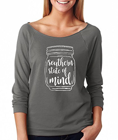 SignatureTshirts Woman's Raglan Southern State of Mind Jar Cute Shirt