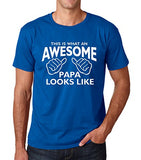SignatureTshirts Men's T-Shirt This is What an Awesome Papa Looks Like Tee