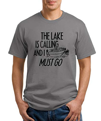 SignatureTshirts Men's The Lake is Calling and I Must go T-Shirt