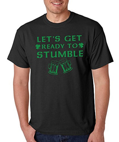 SignatureTshirts Men's Irish St Patricks Day Ready to Stumble T-Shirt Black/Green, S-2XL