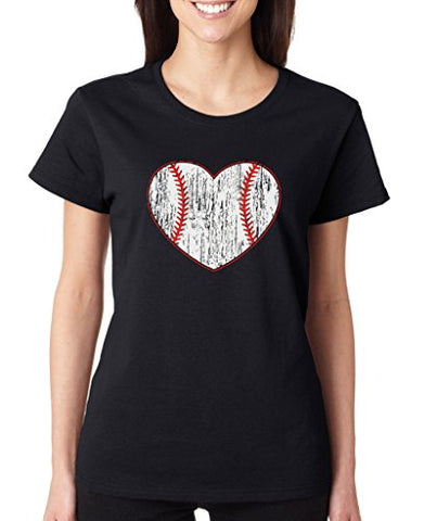 SignatureTshirts Women's Baseball Heart T-Shirt