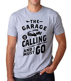 SignatureTshirts Men's The Garage is Calling and I Must Go Mechanic Cars T-Shirt