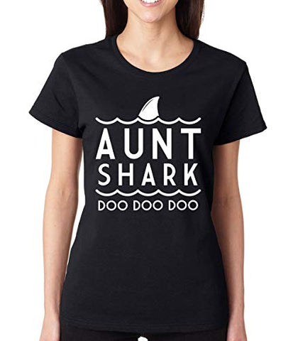 SignatureTshirts Womens Aunt Shark Doo Doo Doo T-Shirt Family Matching tee
