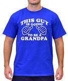 SignatureTshirts Men's This Guy is Going to Be A Grandpa Crew Father's Day Shirt