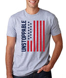 SignatureTshirts Men's Unstoppable with American Flag T-Shirt