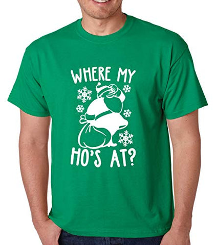 SignatureTshirts Men's Where My ho's at? Christmas Holiday T-Shirt