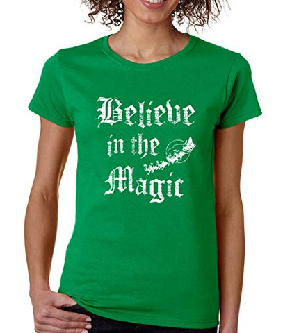 SignatureTshirts Womens Believe in The Magic T-Shirt