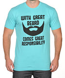 SignatureTshirts Men's with Great Beard Comes Great Responsibility T-Shirt