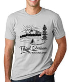 SignatureTshirts Men's Think Outside No Box Required Camping Crew Neck T-Shirt