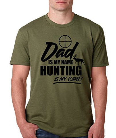 SignatureTshirts Men's T-Shirt -Dad is My Name Hunting is My Game! - Funny Father's Day 100% Cotton