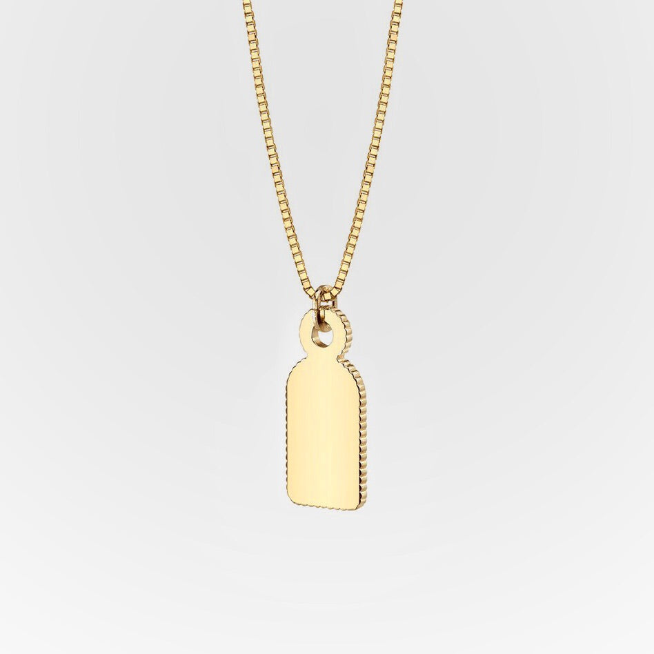 18k Tag Necklace