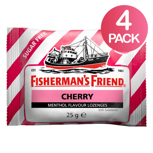 Fisherman's Friend Cherry Sokeriton 4-pack (4 x 25g)