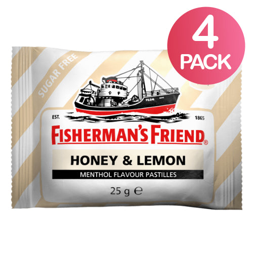 Fisherman's Friend Honey & Lemon Sokeriton 4-pack (4 x 25g)