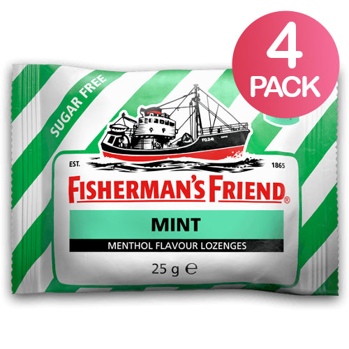 Fisherman's Friend Mint Sokeriton 4-pack (4 x 25g)