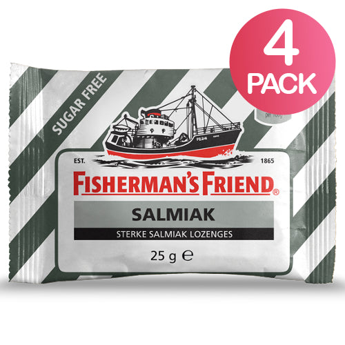 Fisherman's Friend Salmiak Sokeriton 4-pack (4 x 25g)