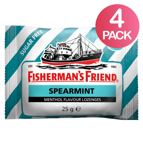 Fisherman's Friend Spearmint Sokeriton 4-pack (4 x 25g)