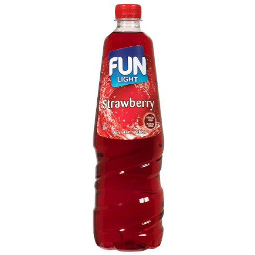 Fun Light Strawberry Mansikka Juomatiiviste 1L