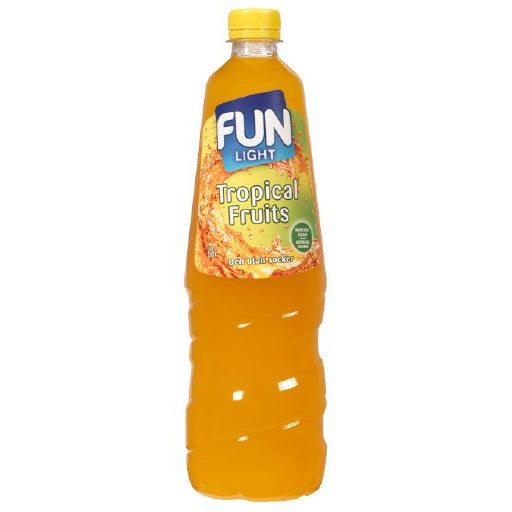 Fun Light Tropical Fruits Juomatiiviste 1L