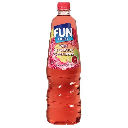 Fun Light Wild Strawberry Watermelon Juomatiiviste 1L