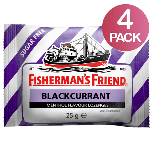 Fisherman's Friend Blackcurrant Sokeriton 4-pack (4 x 25g)
